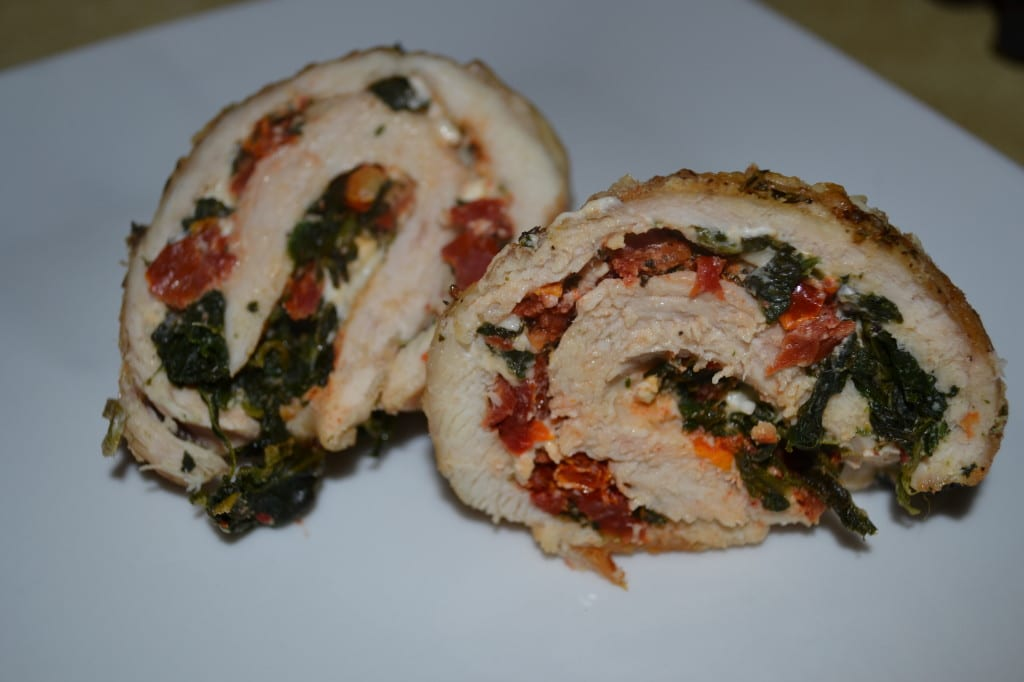 Chicken Roulades With Spinach, Feta And Sun Dried Tomatoes | Delish D'Lites