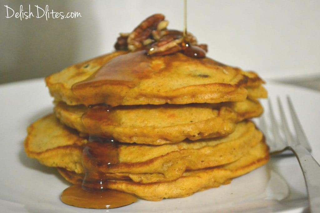 Sweet Potato and Pecan Pancakes   Delish D'Lites
