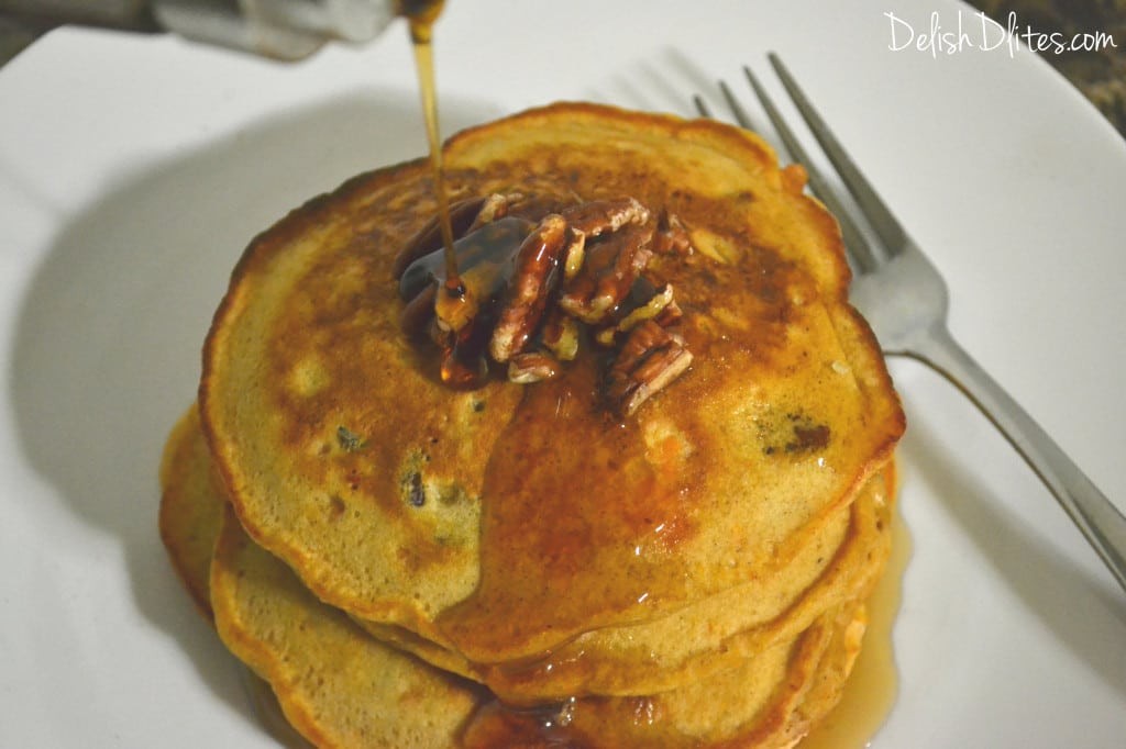 Sweet Potato and Pecan Pancakes | Delish D'Lites