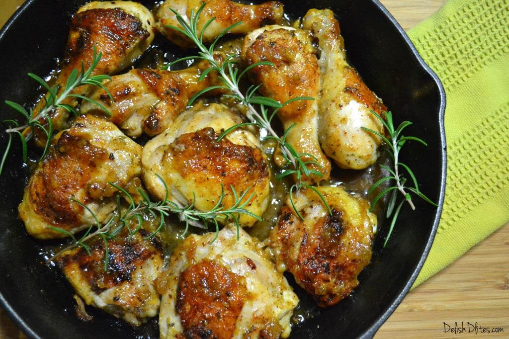 Pineapple-Mustard Glazed Chicken   Delish D'Lites
