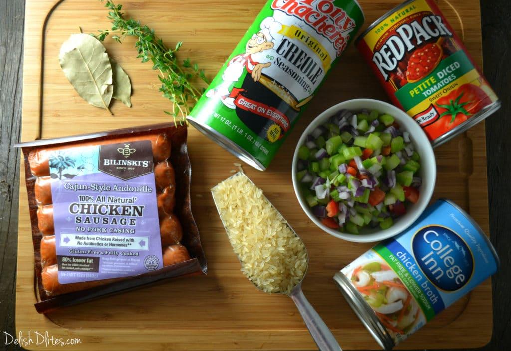 Skinny Chicken Andouille Jambalaya | Delish D'Lites