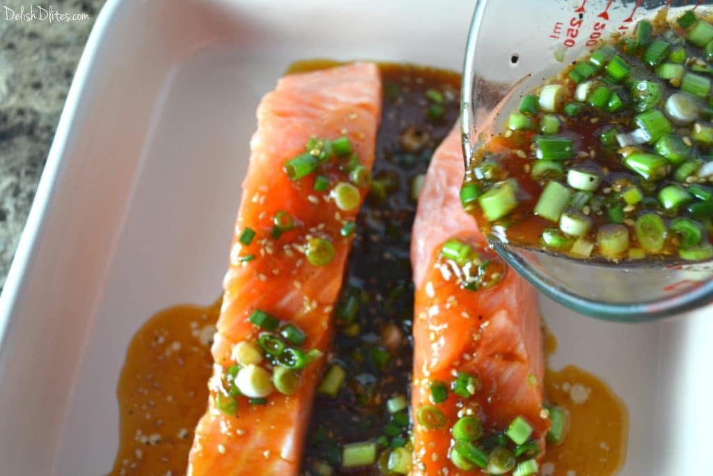 Sesame Ginger Salmon | Delish D'Lites
