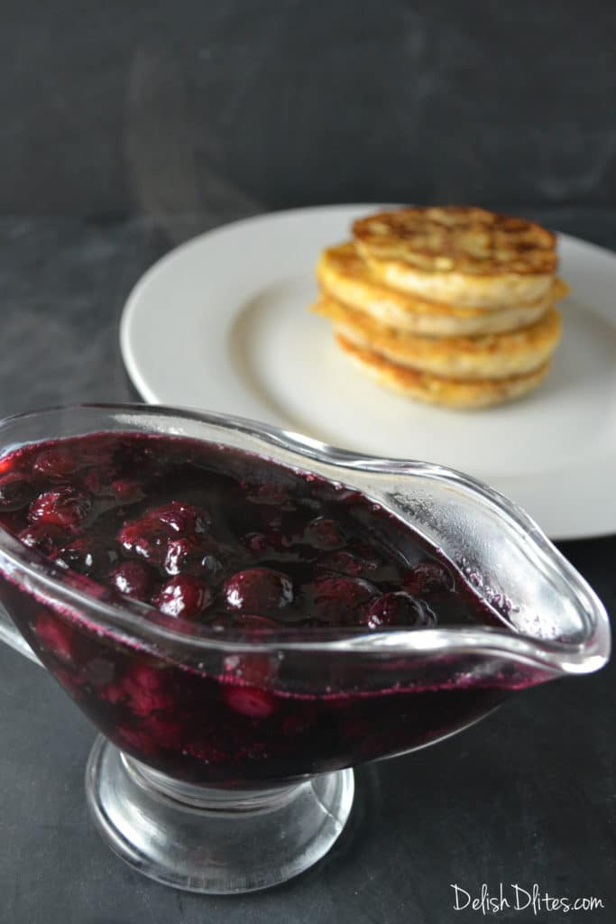 English Muffin French Toast with Blueberry Compote | Delish D'Lites