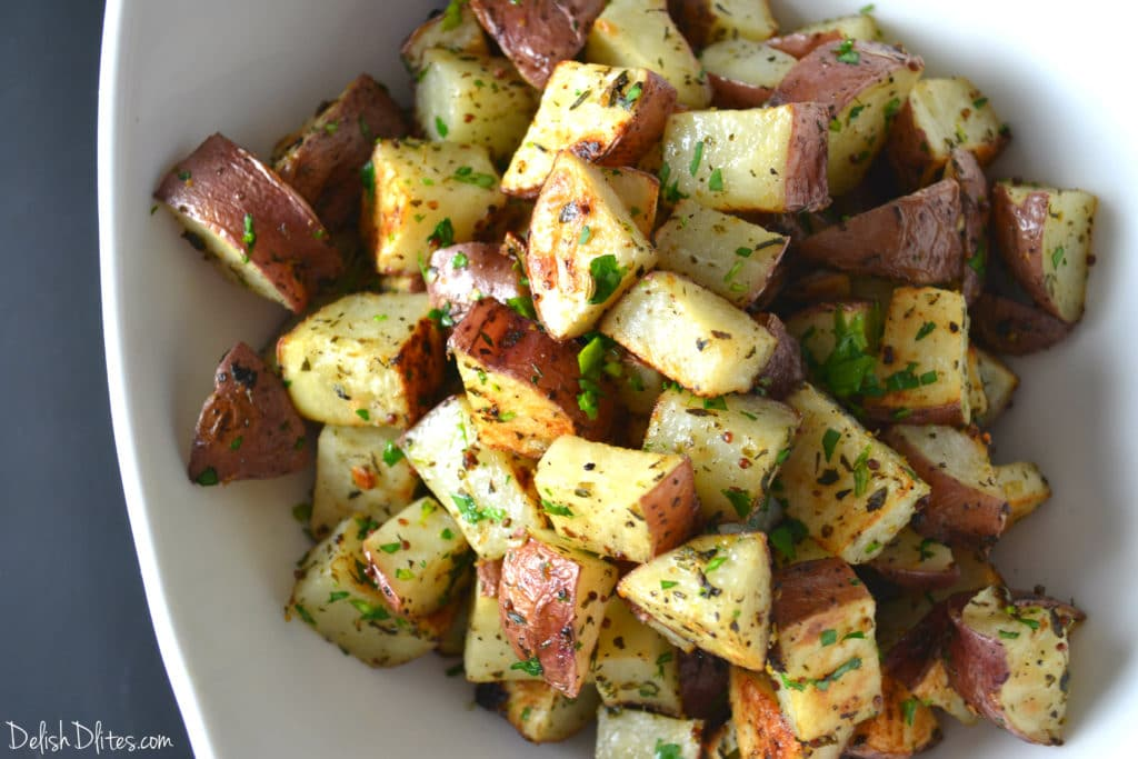 Mustard Roasted Potatoes | Delish D'Lites