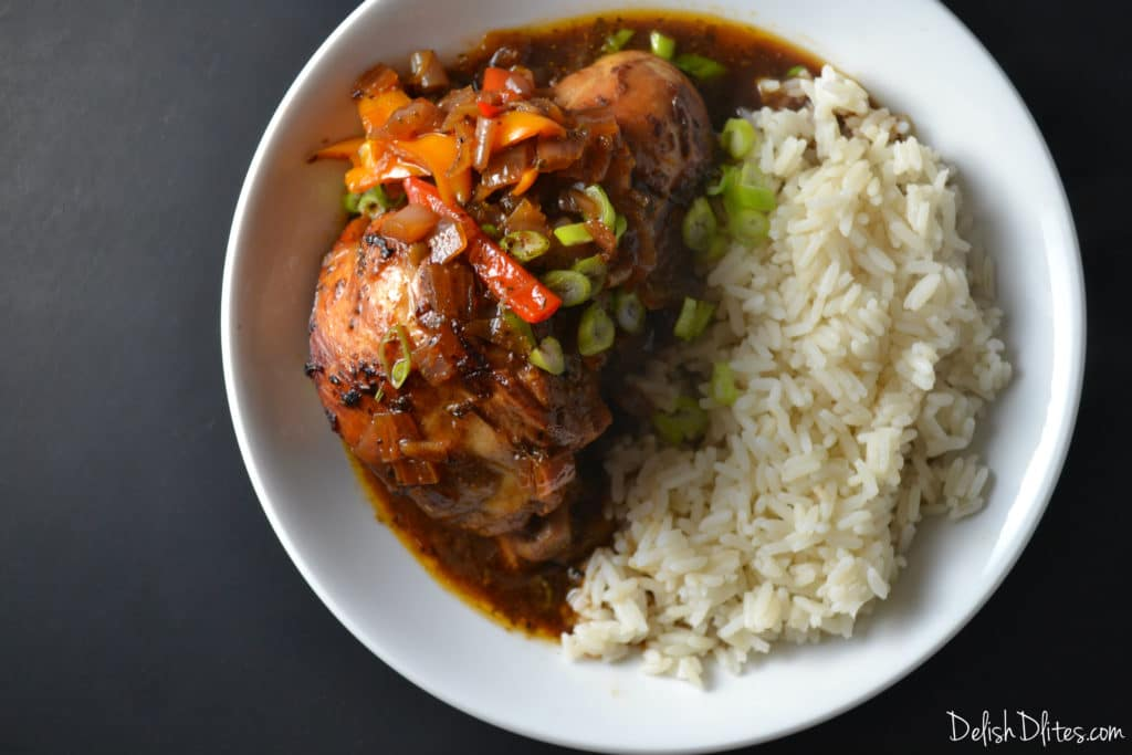 Jamaican Brown Stew Chicken | Delish D'Lites