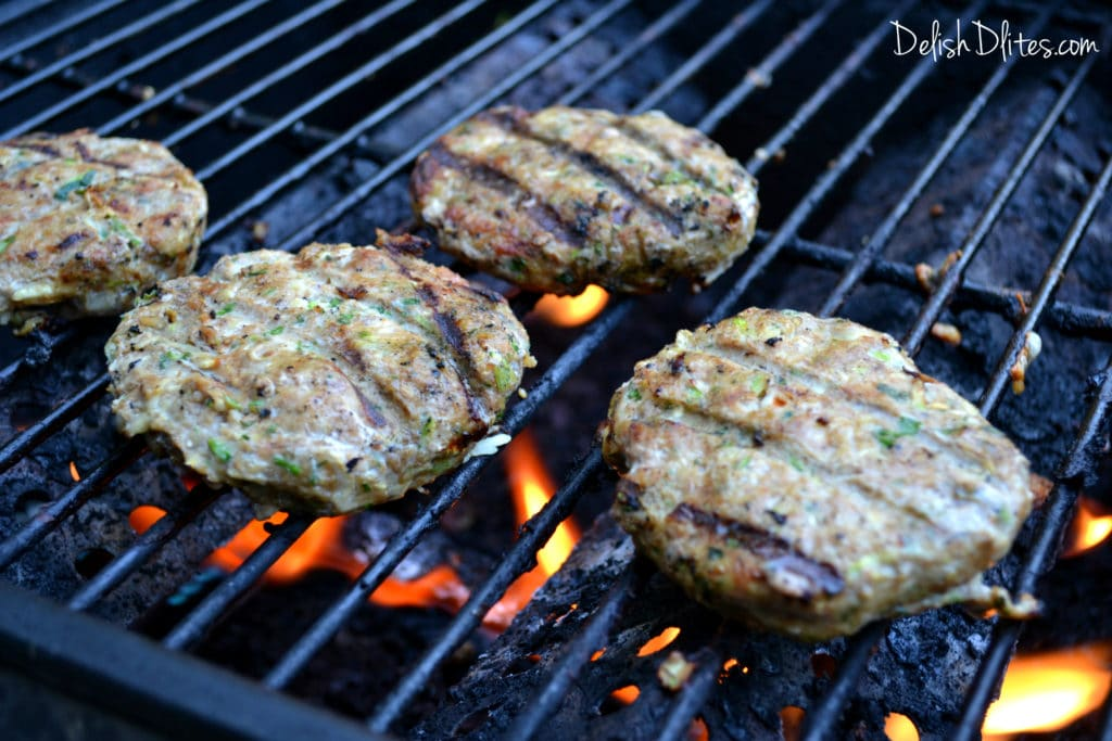 Spicy Turkey Zucchini Burgers | Delish D'Lites
