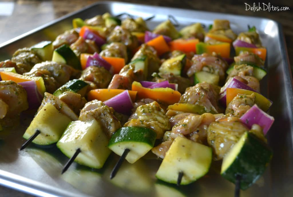 Cilantro Lime Chicken Kabobs | Delish D'Lites