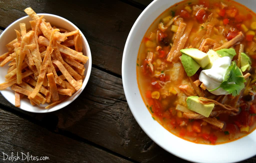 Slow Cooker Chicken Tortilla Soup | Delish D'Lites