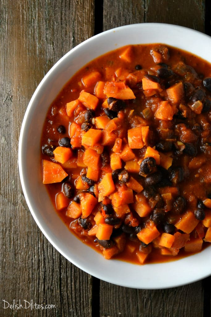 Smoky Sweet Potato and Black Bean Chili   Delish D'Lites