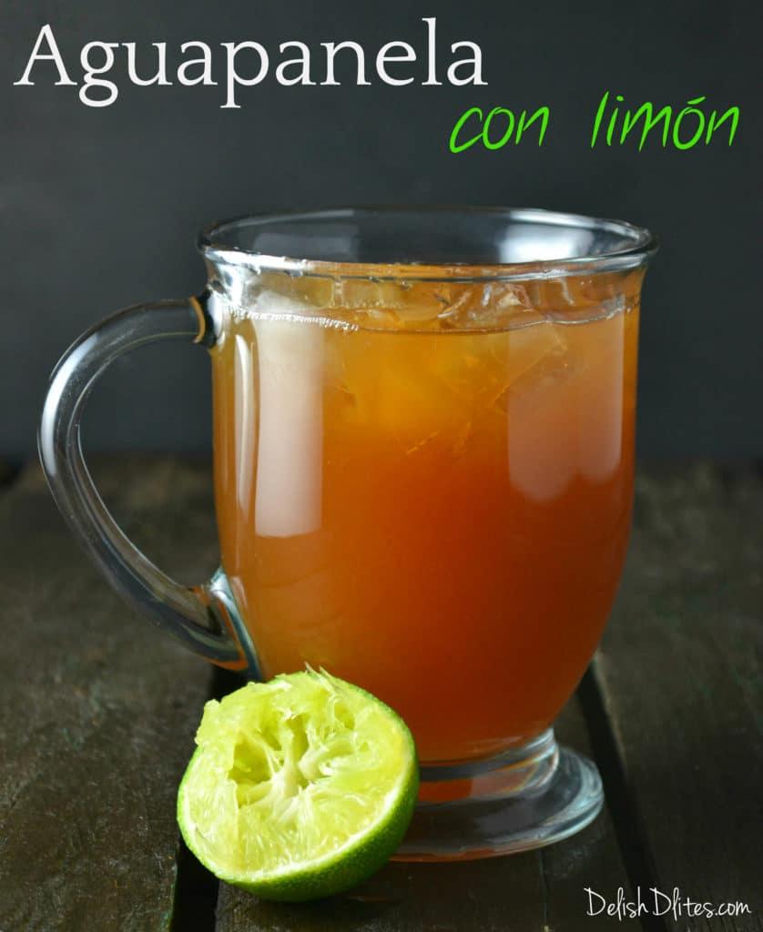 Aguapanela con Limon (Sugarcane Lime Drink) | Delish D'Lites