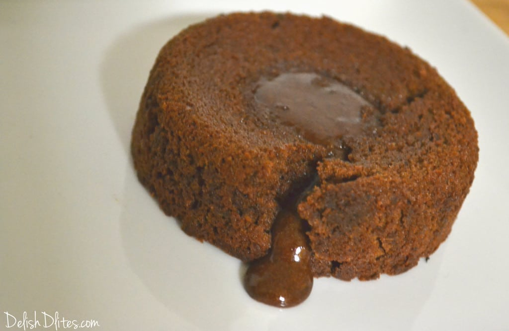 Chocolate Molten Lava Cake Made With Cocoa Powder