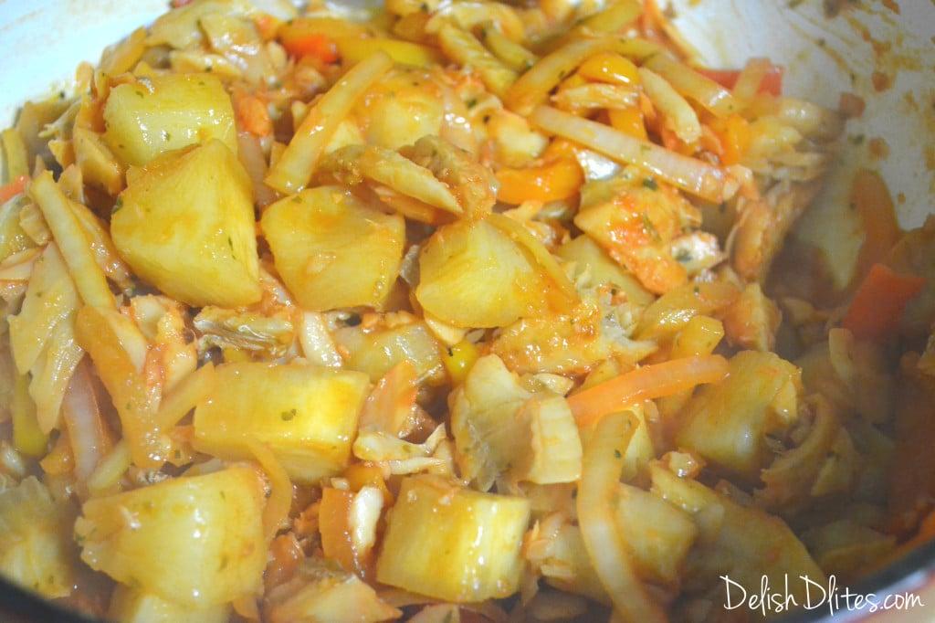 Bacalao Guisado (Stewed Codfish) | Delish D'Lites