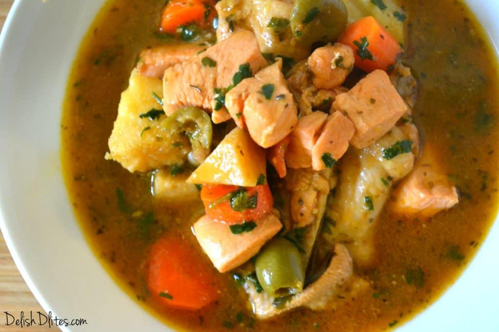 Pollo Guisado Puerto Rican Chicken Stew Delish D Lites