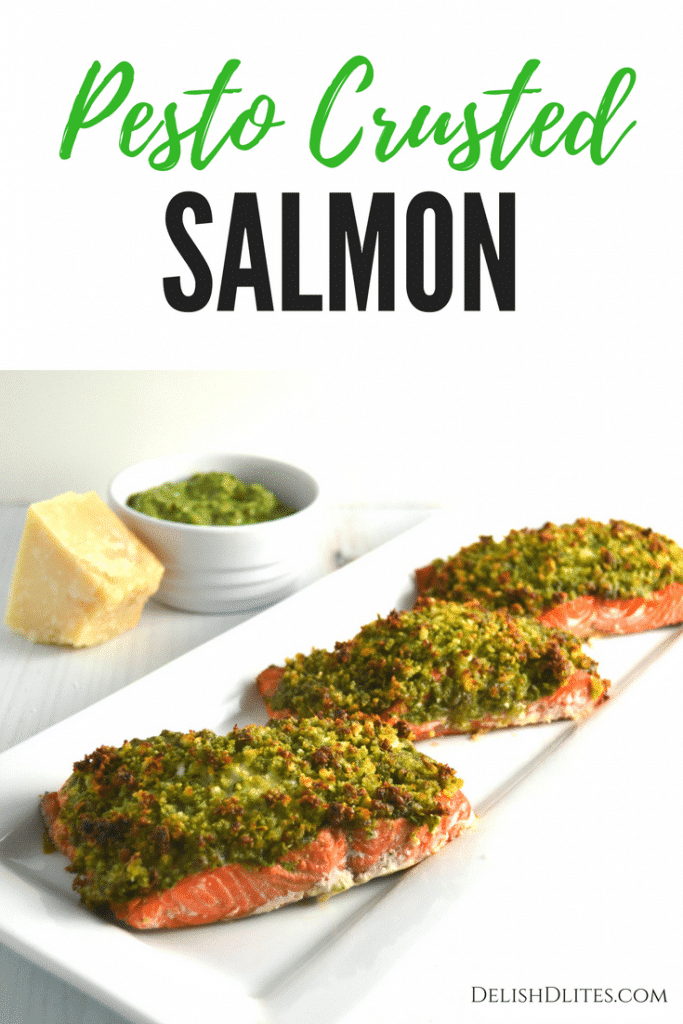 Pesto Crusted Salmon | Delish D'Lites