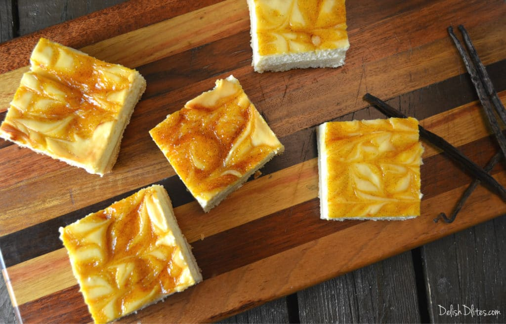 Sweet & Tangy Passion Fruit Cheesecake Bars
