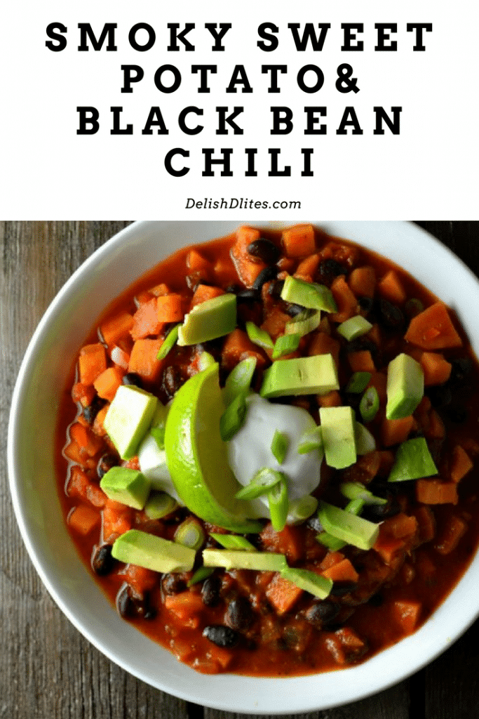 SWEET POTATO AND BLACK BEAN CHILI | Delish D'Lites